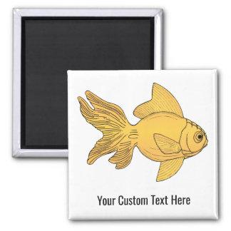 Fish illustration custom text magnet