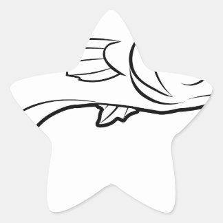 Fish illustration sticker