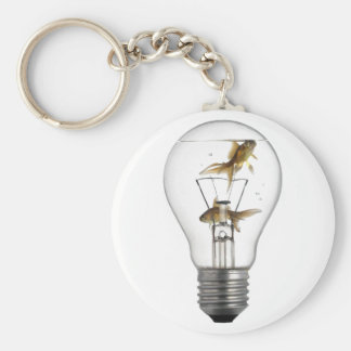 Fish in a bulb key chains