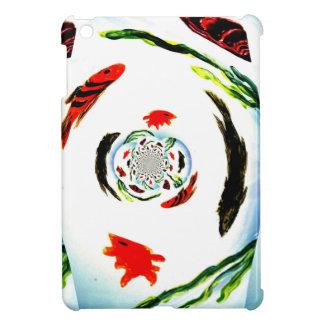 """Fish in a Spin"" Fun Abstract Undersea Art iPad Mini Cases"