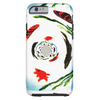 """Fish in a Spin"" Fun Abstract Underwater Art Tough iPhone 6 Case"
