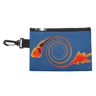 Fish in a Swirl abstract art Accessories Bags