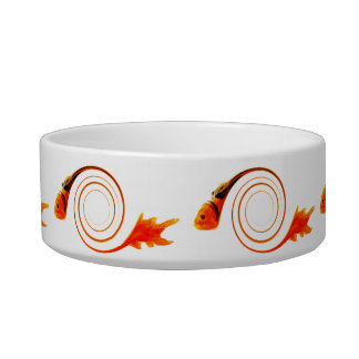 Fish in a Swirl abstract art Bowl