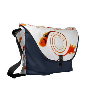 Fish in a Swirl abstract art Courier Bag