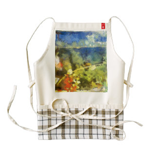 Fish in an aquarium zazzle HEART apron