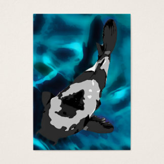 Fish in Aquarium, Black, Grey and Blue Business Card