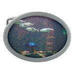 Fish in Aquarium Oval Belt Buckles