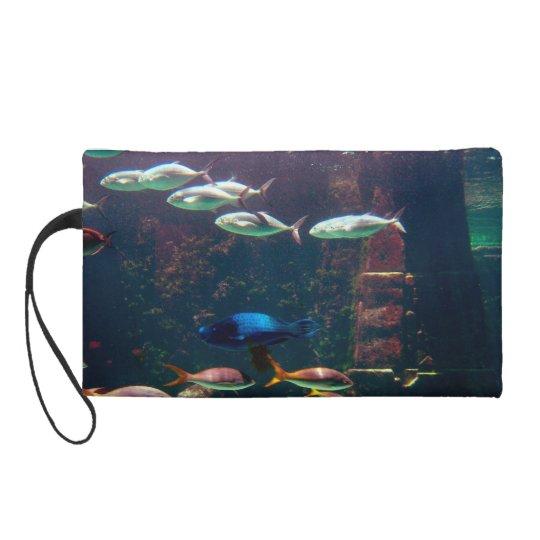 Fish in Aquarium Wristlet Purse