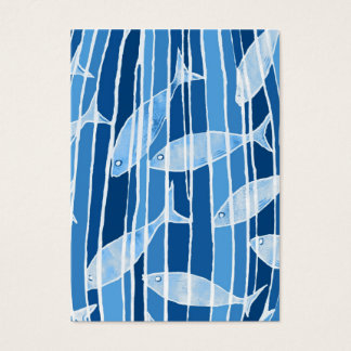 Fish in Blue Striped Tank Business Card