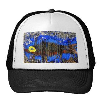 fish in bubble wrap trucker hat