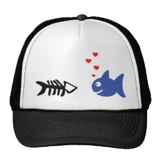 fish in love icon hats