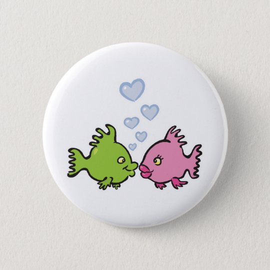 fish in love valentine button