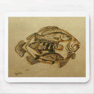 fish in plate mouse pad