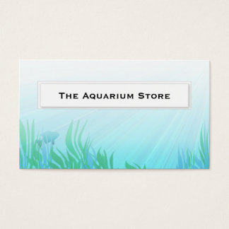 Fish in reeds aquarium Business Cards