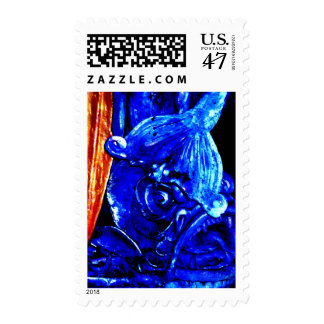 """Fish In Reno"" JTG Art Postage Stamp"