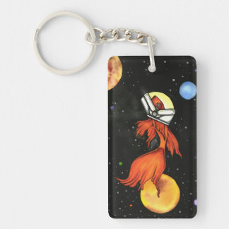 Fish in Space Acrylic Key Chain