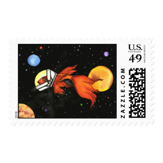 Fish in Space! Postage