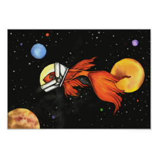 Fish in Space! Poster