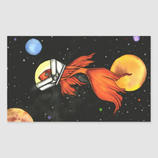 Fish In Space Sticker