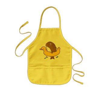 Fish in the duck swimming ring doodle art  Apron