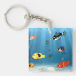 Fish In The Ocean Acrylic Key Chains