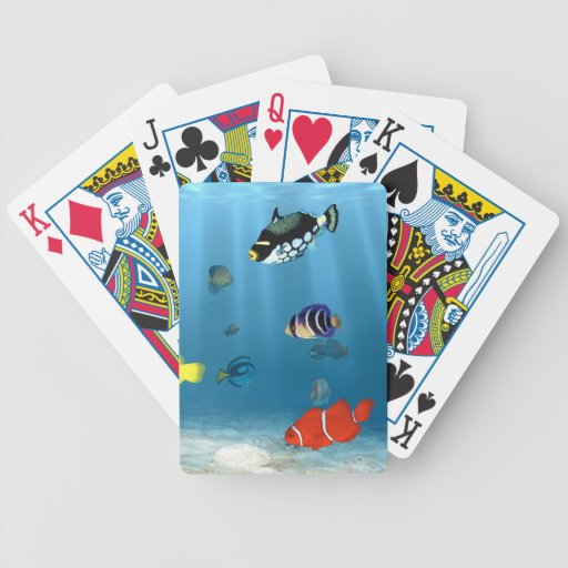 Fish In The Ocean Bicycle Playing Cards