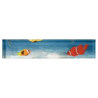 Fish In The Ocean Desk Name Plates
