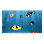 Fish In The Ocean Double-Sided Standard Business Cards (Pack Of 100)