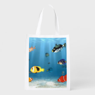 Fish In The Ocean Grocery Bag