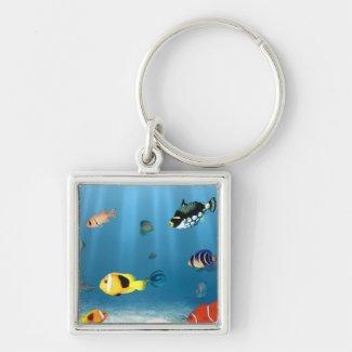 Fish In The Ocean Key Chain