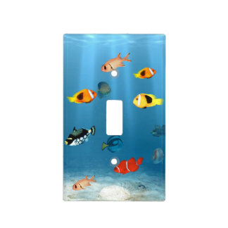 Fish In The Ocean Light Switch Plate
