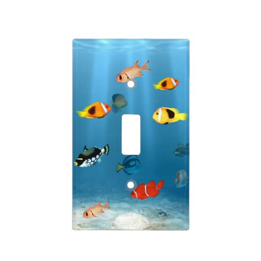 Fish in the ocean light switch plate zazzle for Covers from the ocean