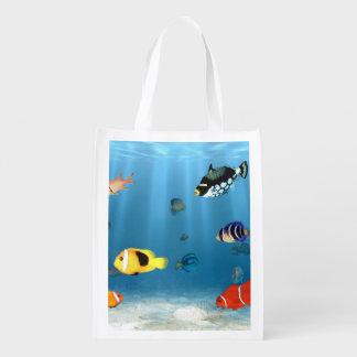Fish In The Ocean Reusable Grocery Bag