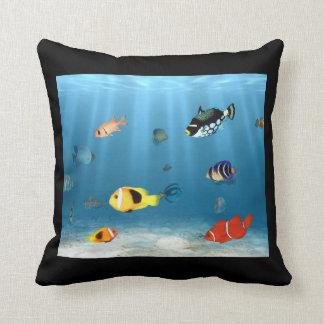 Fish In The Ocean Throw Pillow