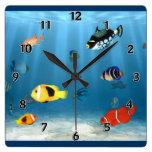 Fish In The Ocean Wall Clocks
