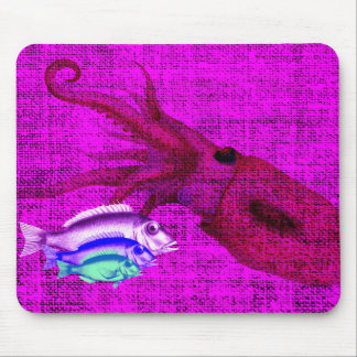 Fish in the Sea Digital Collage Mouse Pad