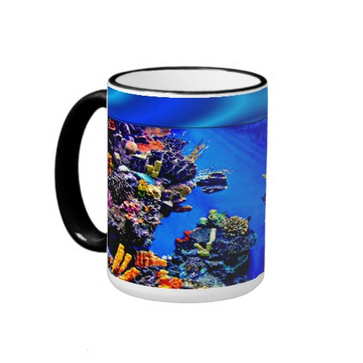 Fish in Your Cup Ringer Coffee Mug