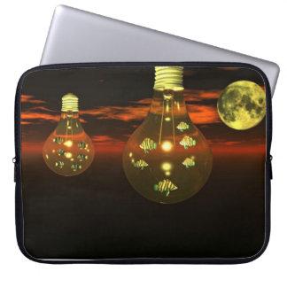 Fish inside lightbulb surreal  Laptop Bag