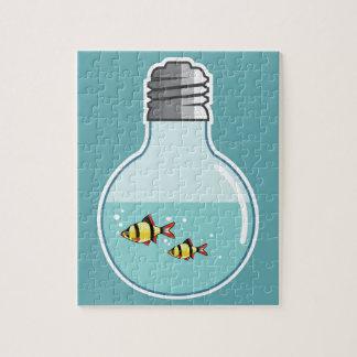 Fish Inside the Light Bulb vector illustration Jigsaw Puzzle