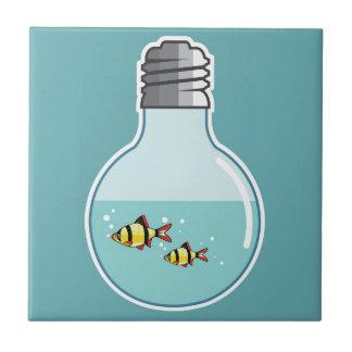 Fish Inside the Light Bulb vector illustration Tile