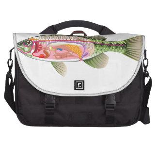 Fish internal organs Vector Art diagram Anatomy Laptop Commuter Bag