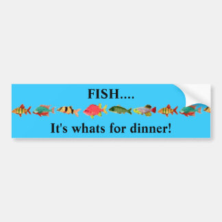 FISH....It's whats for dinner! Bumper Sticker