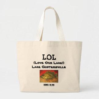 Fish Jumbo Tote Bag LOL Lake Guntersville