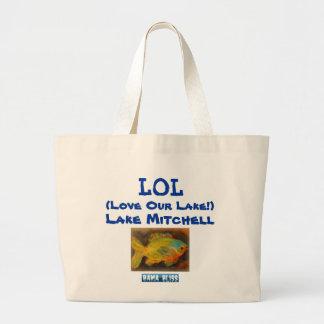 Fish Jumbo Tote Bag LOL Lake Mitchell