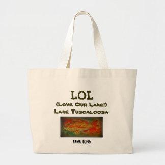 Fish Jumbo Tote Bag LOL Lake Tuscaloosa