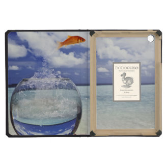 Fish jumping from fish tank iPad mini covers