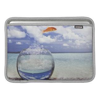Fish jumping from fish tank MacBook air sleeve