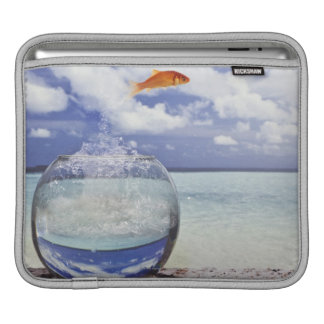 Fish jumping from fish tank sleeve for iPads