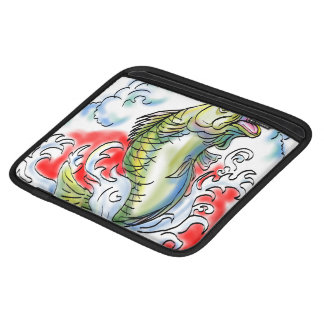 Fish Jumping In Sea Waves Sleeves For iPads