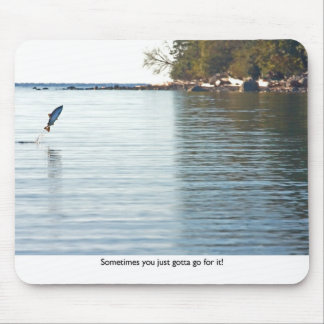 Fish Jumping Out of Water Mouse Pad